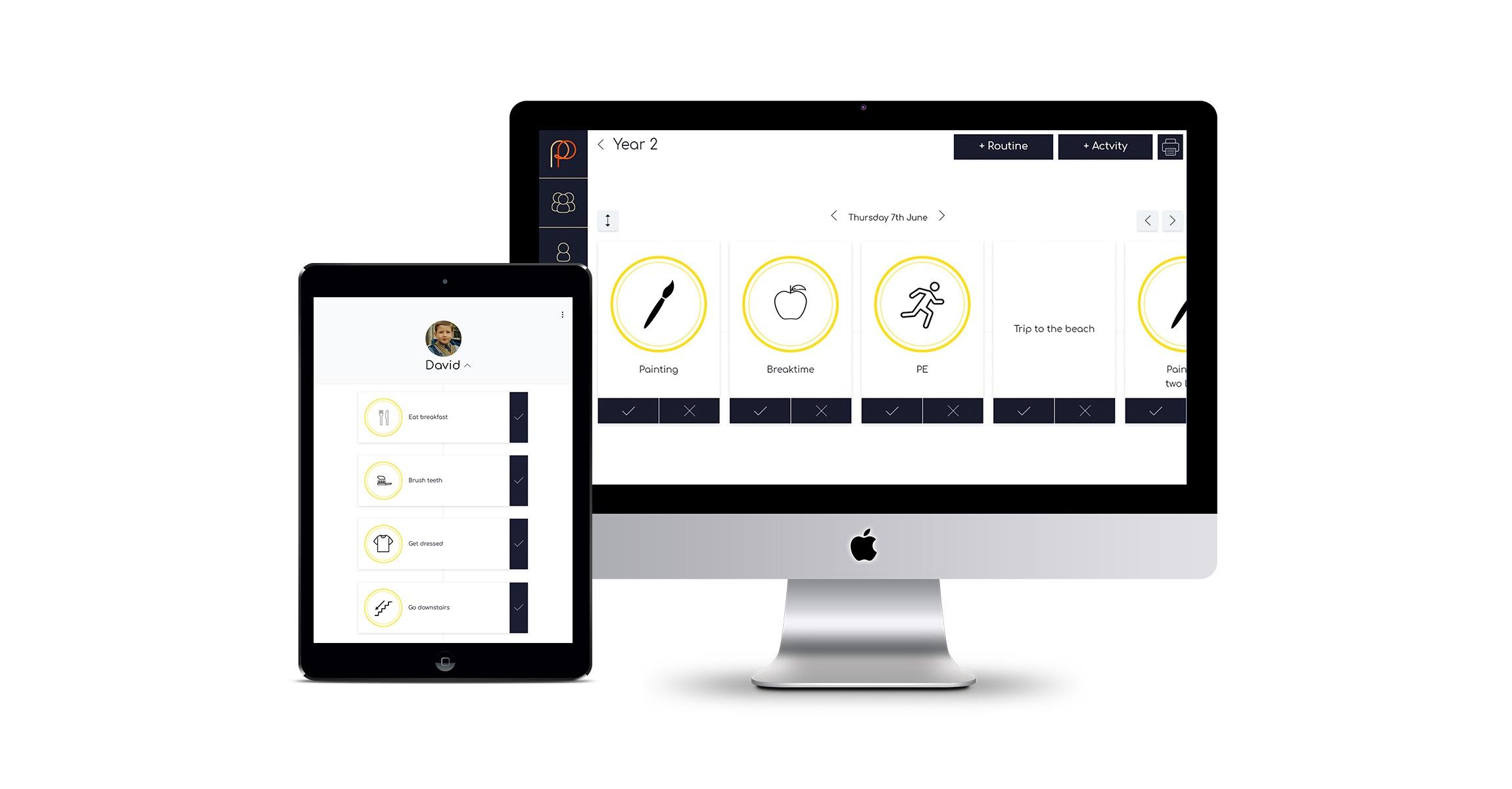 Autism dayplan tech startup app